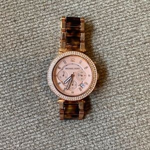 Michael Kors Rose gold watch , gently used